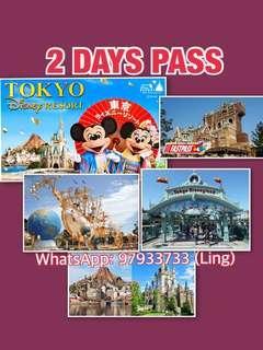 TOKYO DISNEY 2 DAYS PASS + FREE FAST PASS