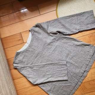 (有實穿照)無印良品 muji 女有機棉混氂牛毛套衫