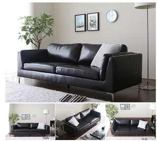 Ready stocks free delivery PU 3 seaters Sofa