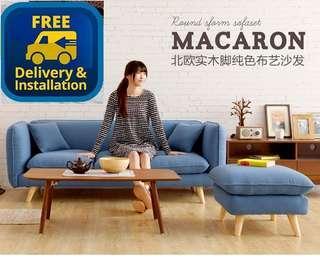 Ready stocks free delivery 3 Seater Sofa + Stool