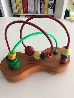 Made in Canada Wooden Toy beads right brain training educational toy