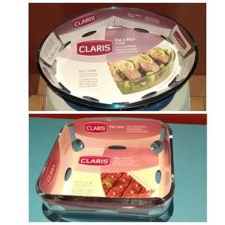 全新 Claris Glass Roasters (safe for microwave and oven) 玻璃燉碟 可入微波爐焗爐