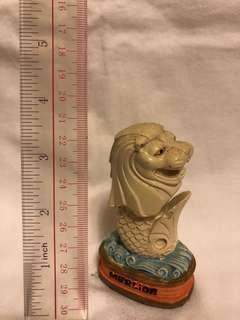 星加坡獅頭魚尾像模型一個