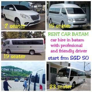 CAR HIRE / RENT CAR BATAM.  Fast respons, WA : http://www.wasap.my/+6281270531218