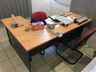 L Shape Office Table Meja Office