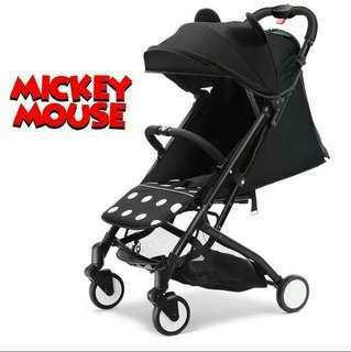 Disney Mickey and Minnie Mouse compact stroller