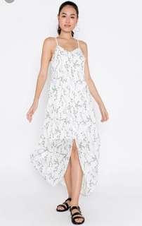 Beverly Floral Front Slit Maxi Dress