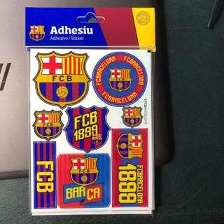 Aunthentic FC Barcelona stickers Made In spain