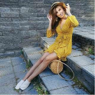 (2 COLOURS) 'Francais' Wrap Dress