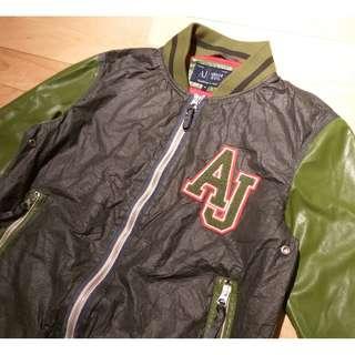 Armani Jeans red line denim zipper jacket