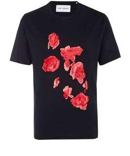 Authentic Our Legacy Roses Embroidered Tee Black
