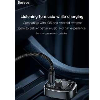 Baseus T Typed Bluetooth MP3 Charger with Car Holder
