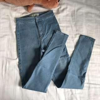 bn authentic topshop joni denim wash jeans