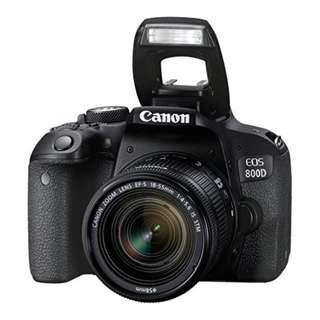 Canon EOS 800D Kit (18-55mm IS STM). Canon Malaysia Warranty 3Years (Cash Back RM200 Online Redeem)