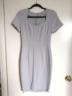ASOS Grey Formal Bodycon Dress with Sweetheart-like Neckline AU8