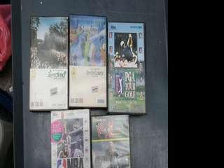 SEGA MEGA DRIVE GAME, 世嘉五代遊戲帶 有盒有說明書企理全齊, 全部五件$250元, 全清不散賣, $250=5