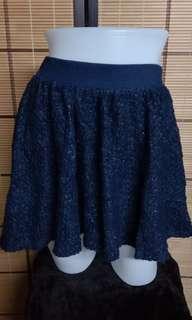 1711 TWEED NAVY BLUE SKIRT W28