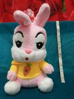 Pink bunny Rabbit stuffed toy plush doll