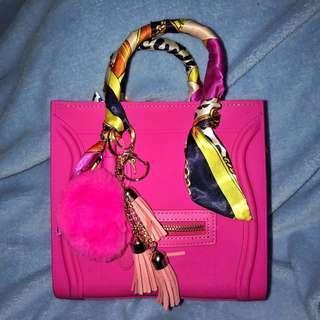Hot Pink Celine Beachkin Sling Bag