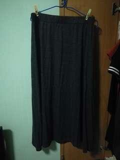 PLUSH Grey Maxi skirt