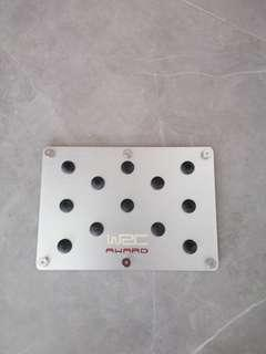 Brand new car / vehicle foot / floor /sports plate mount on car mat