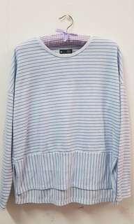 Stripes cotton blouse