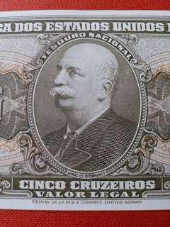 巴西  5 Cruzeiros (1964)