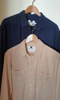 TOPMAN long sleeve button up shirt