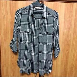 MNG Casual Plaid Shirt