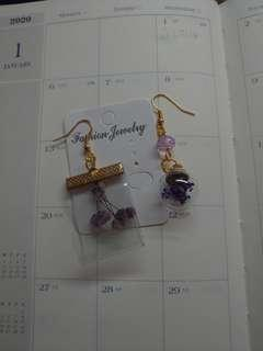 🚚 超美紫色乾燥花系列耳環