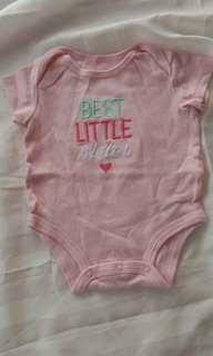 Best little sister bodysuit baby clothing for 3 month old