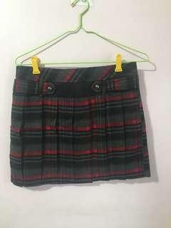 🚚 學院風針織格紋裙