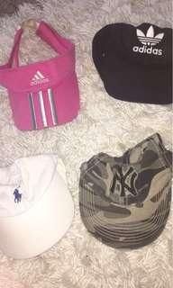 4x hats - all authentic