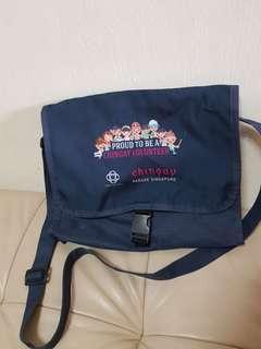 Chingay Parade volunteer sling bag (31 X 25cm)