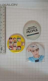Preloved K-Pop EXO Badges