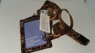 Lanyard Leopard (Keyring Id Holder/tempat Id/nametag)