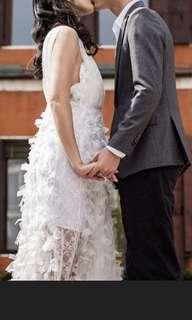 氣質款全白透膚洋裝-自助婚紗/約會/禮服