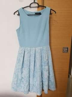 MGP Pastel blue overlay dress (Size S)