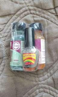 Nail care set with polish
