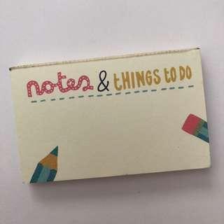 Mini To Do Notepad
