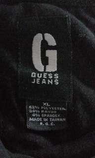 1578 GUESS JEANS BLACK COTTON LS SHIRT (XL)