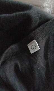 1579 UNIQLO BLACK COTTON LS SHIRT (L)