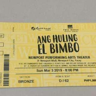 Ang Huling El Bimbo The Musical - Bronze Mar 3 8PM