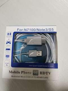 Mobile phone to HDTV Note 3/S5
