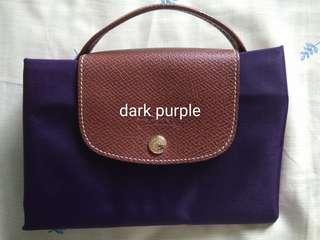 Dijual longchamp original warna dark purple.