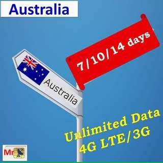 Australia sim card unlimited data