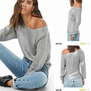 Auth💯Forever 21 Mettalic Top ( retails at 1,400)