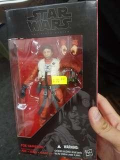 Star Wars hasbro #07 6 inch poe dameron black series bib