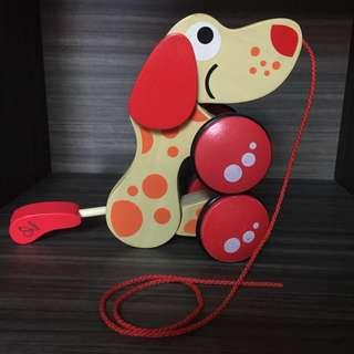 Hape Walk-along-pull Puppy Dog Wooden Toy