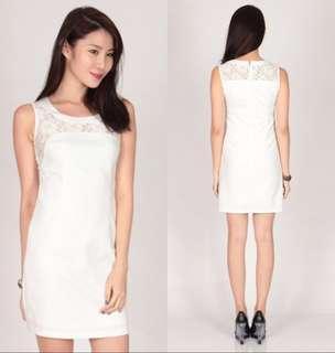 Dressabelle Lace Neckline Dress